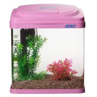 Jebo mini small glass fish tank water aquarium qr260