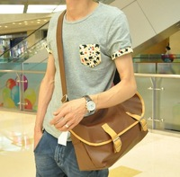 The trend of fashion male casual bag one shoulder cross-body messenger bag man bag water dumplings bag
