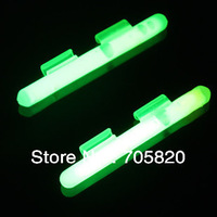 Clip-on Float Glow Stick Night Fishing Green Fluorescent Light stick for sea fishing rod,100pcs/lot,free shipping