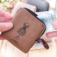 Nostalgic memory vintage canvas coin purse key wallet female d313