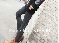Han Guoyuan show thin vertical lines before cashmere single ms qiu dong joker nine minutes of pants leggings(sale by bulk)