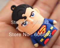 Retail genuine 2G/4G/8G/16G/32G Super Man style flash drive silicone usb flash drive Free shipping