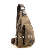 Fashion canvas male casual small outside sport chest pack mobile phone waist pack new fashion 2013 backpack shoulder bag