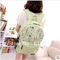 Navy style backpack 2013 new fashion women's shoulders bag handbag totes for school high quality light green