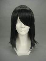 Costume Party FINAL FANTASY-Kadaj Straight Women Wig 16inch (Black)