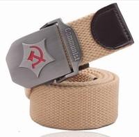 2013 Communist flag Style Army Belt Male Leather Belt Canvas Belts mens women B96