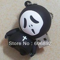 Retail genuine 2G/4G/8G/16G/32G hallowmas style flash drive silicone usb flash drive Free shipping