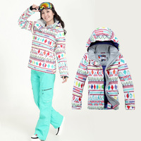 Free Shipping Wholesale Gsou 2013 monoboard snow ski suit Women skiing clothing set series