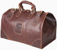 Free Shipping Vintage Men's Genuine Leather Bags Large Capacity Vintage Travelling Luggage Tote Travel Bag Duffle Gym Case NEW