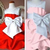 NEW Arrival 2013 children dress girls party High-grade Princess dress chiffon Big bowknot dresse for summer 2013 90-120 yards
