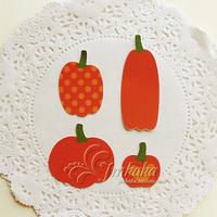 Small pumpkin scrapbook baby photo album clipbook diy hand for halloween decoration paper card