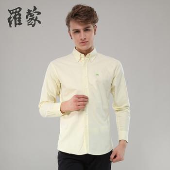 Romon male logo Oxford silk cloth cotton long-sleeve shirt 3c13065