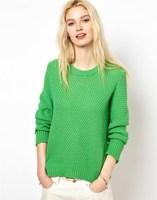 2014 New Brand Autumn & Winter Sweater Knitting Sweater Wholesale New Fashion Women's Sweater 2 colors Long Sleeve Lady Sweater