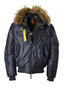 Men Gobi Navy blue parka down coat Men's winter clothing outdoor jacket fur hoodie jackets brand new 2013