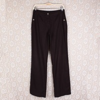 2013 New women trousers fashion casual black and white polka dot lightweight mid waist cotton harem pants Free shipping GF012