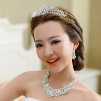 The bride accessories piece set wedding dress necklace bride chain sets jewelry set accessories married piece set
