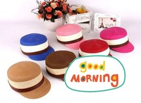 high quality straw hat ,bat hat with different color For free shiping