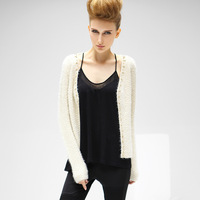 2013 Hitz European and American Fan collarless Liangsi women's knit cardigan sweater ST13