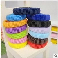 Free Shipping!Towel Hair Rope Elastic Ponytail Holders Scrunchies Rainbow Colorful Hair Rubber Bands Hair Accessories 48pcs/lot