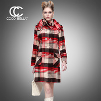 2013 New exclusive custom Slim version of model Hooded Long woolen coat CT196