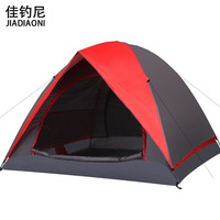 Outdoor 3 - 4 camping tent double layer rainproof camping fashion
