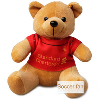 2012-13 Liverpool Plush toys big teddy bear big embrace bear doll lovers gifts size 19*13*12cm