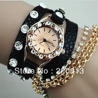 2013 new! Summer Selling Dress Watch Popular Women Rhinestone Watches Quartz Watch Free Shipping