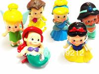 Hot Sale !!!!  6 pcs /lot  Princess Pendant Beads Fit Chunky Kids Necklace Free Shipment