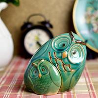 Fashion modern vintage mix match ceramic home decoration owl combination