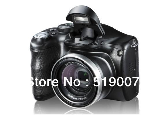 Long Focus 14.1M CMOS Sensor 16 Mega Pixel DSLR Digital Camera digital Camera DSLR camera with 2X magnifying lens(China (Mainland))