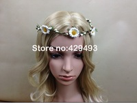 High quality bridal New Wedding Flower Headband Hair Band Garland Hair Wreaths