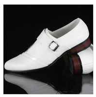 Designer new white leather dress shoes men's casual shoes groom wedding shoes