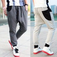 Color block 2013 casual all-match fashion sports pants harem pants trousers male