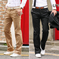 Trousers 2012 long johns unique solid slim male casual hemming pants trousers