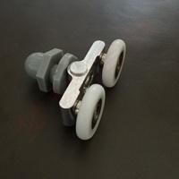 Shower room pulley shower wheels alloy swing double pulley steam room pulley sliding door pulley