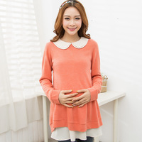 2013 maternity clothing autumn fashion twinset maternity autumn one-piece dress long-sleeve top maternity dress