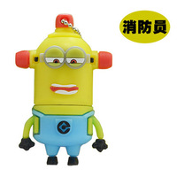 Retail genuine 2G/4G/8G/16G/32G Despicable me style flash drive cute yellow silicone usb flash drive Free shipping