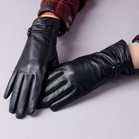 Yaoyao women's thermal winter leather gloves genuine leather gloves sheepskin gloves driving gloves 8152