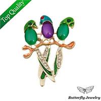 (2$ Off Per 12$)Free Shipping,2013 Popular Enamel Birds Brooch Pin,Rhinestone Brooch for Women Dress