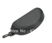 Black Zip Hard Eye Glasses Sunglasses Storage Case Eyeswear Zipper Protector Box Bag 16*8x6cm