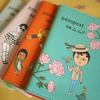Passport holder card storage bag short design passort cover pu material 10x15.4cm