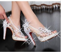 free shipping 2013 news red shoes fashion sexy  red bottom women pums wedding dress women high heels  rhinestone women sandals