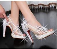 free shipping 2013 news red shoes fashion sexy  red bottom women pums wedding dress women high heels  rhinestone women sandals