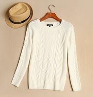 2013 women's autumn vintage twisted pullover basic sweater long-sleeve sweater outerwear