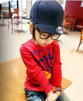Wholesale 1 lot = 5 pieces Children's long-sleeved T-shirt bottoming shirt Autumn on the 5th Free shipping Boys Girls Clothes