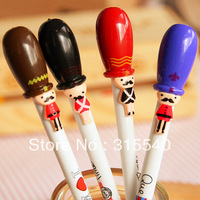 Free Shipping(36pcs/lot), New fashion England style soldier pattern gel pen, Gel ink pen, Fashion stationary, UK339