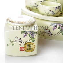 Kiln tea set pot 2 plate 10 kung fu tea teaberries set tea set