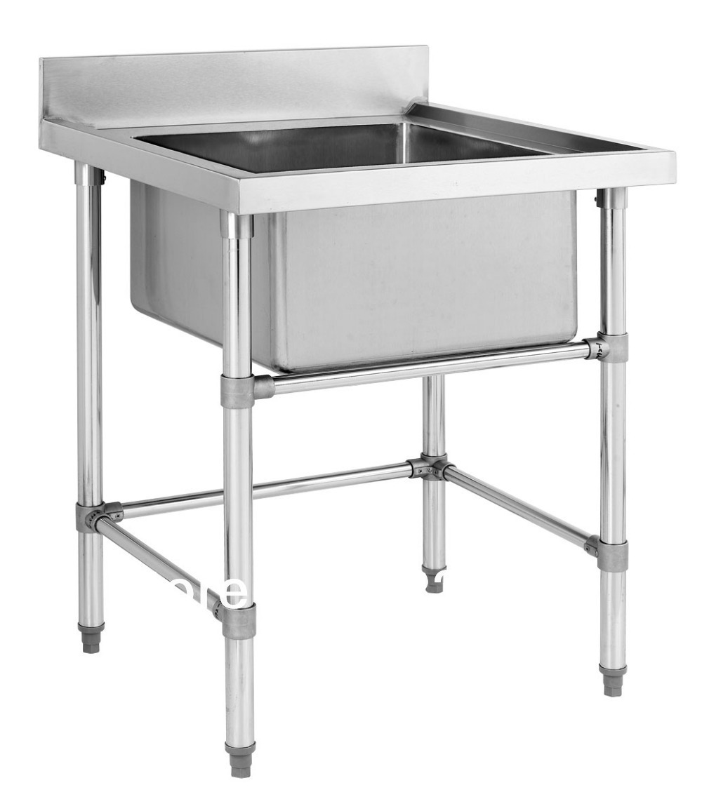 Nice Stainless Steel Sink Commercial Kitchen Part - 9: Stainless Steel Big Single Sink Bench For Commercial Kitchen, Hotel .