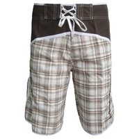 Free Shipping New Bermuda Shorts Men Boardshort Surfing Swimwear COFFEE