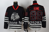 Wholesale Men's Ice Hockey Jerseys Cheap Chicago Blackhawks #88 Patrick Kane Black Ice Skull Heads Jersey,Embroidery Logo